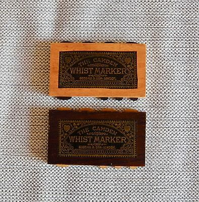 Pair Of Camden Whist Markers. Goodall & Son
