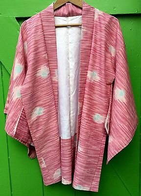 Beautiful Original Vintage Pink Patterned Handmade Kimono Free Size