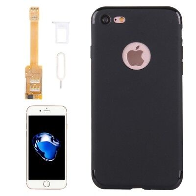 ELETTRONICA Kumishi for iPhone 7 2 in 1 Dual SIM Card Adapter + TPU Back Case C