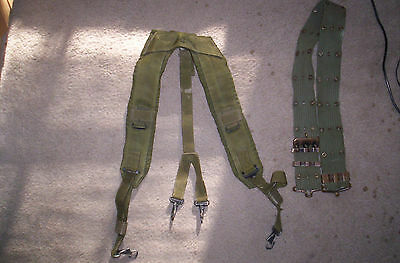 Vintage Military Y-Style LC=1 Suspenders and pistol belt
