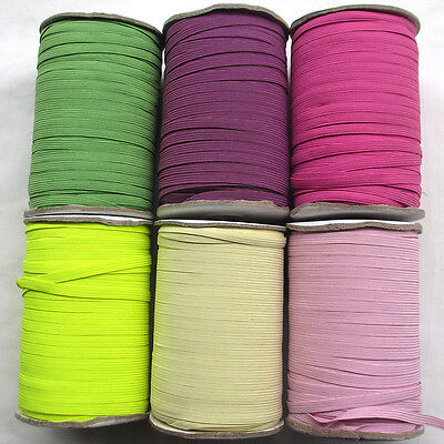 "Upick 6 Colors Braided Elastic Sewing Craft  1/4""(6mm) Wide Trim 20Yards"