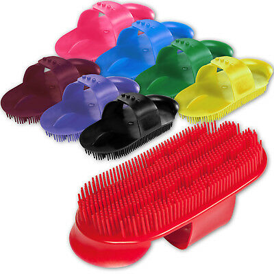 Plastic Curry Comb with Adjustable Strap Horse Pony Care Grooming - Two Sizes