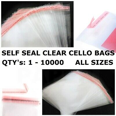 A3 A4 A5 A6 Clear Cello Card Bags Cellophane Small Large Bag Cards Seal Party Uk