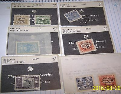 Bolivia 1940'S 50'S SETS AND SINGLES AIRMAIL X 6 LOT 3
