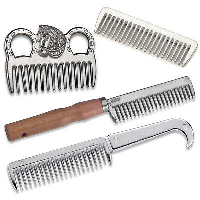 Equestrian Horse Pony Metal Mane Comb Grooming Care Kit Mane & Tail Pulling