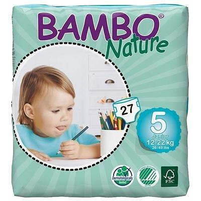 Pañal Bambo Junior T5, 12-22kg, 27ud