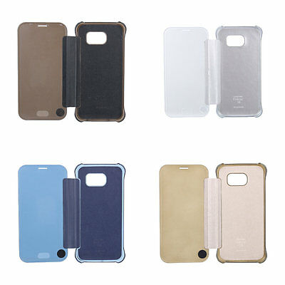 Luxury Mirror Clear View Slim Case Cover For Samsung Galaxy S6 Edge Plus Gold A0