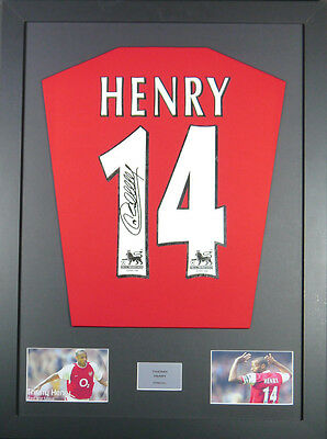 Thierry Henry Arsenal Signed Shirt framed display with coa