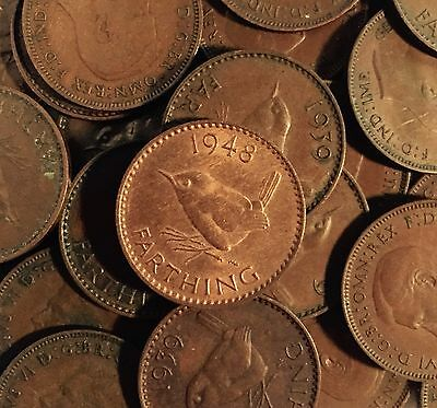 Old British Farthing Coins 1900 - 1955 Choose Your Year - English Penny Birthday