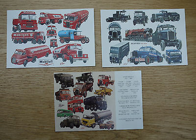 "3 x POSTCARDS - TANKERS, TRUCKS & HAULAGE - SIZE 6"" x 4"""