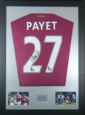 Dimitri Payet West Haam Signed Shirt framed display with coa