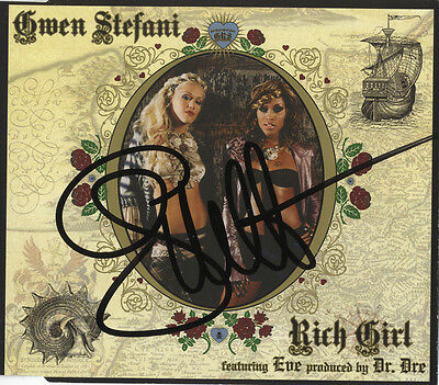 Gwen Stefani  -  In Person Signed C.D. Insert Cover for ' Rich Girl '