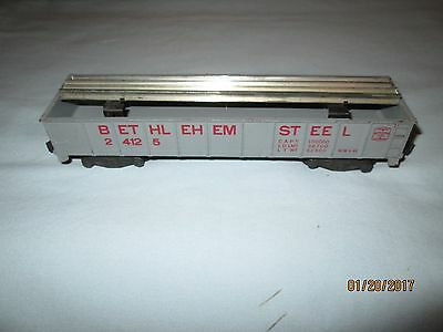 American Flyer 24125 Bethlehem Steel Gondola Car w/Original Rail Holders & Rails