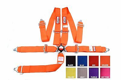 "Sfi 16.1 Racing Harness 5 Point Floor Mount 3"" Cam Lock Orange Any Color"