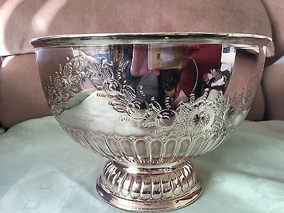 Vintage  Quality Silver Plate On Copper Punch Bowl-Cooper Bros & Sons Sheffield