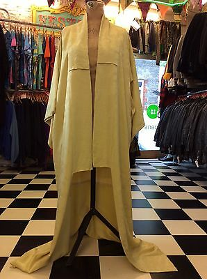 Beautiful Handmade Original Vintage Pale Lemon/Lime Kimono Freesize