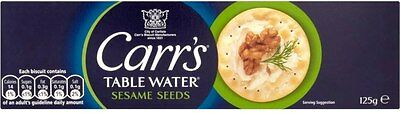 Carr's Table Water Biscuits - Toasted Sesame Seeds (2x125g)