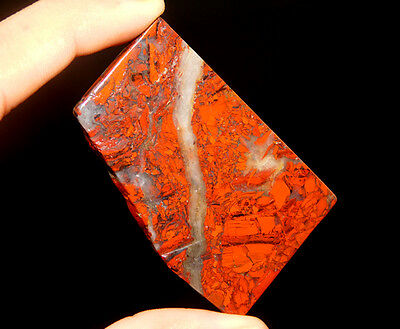 127Cts A+ 100% Natural  58X36 MM Blood Stone Slice Loose Gemstone Free Shipping