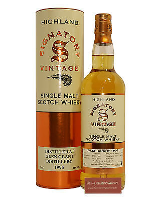 Glen Grant 21 Jahre Signatory Vintage Single Malt Whisky 43,0% vol. - 0,7 Liter