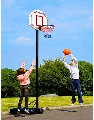 Large Size Basketball Stand Outdoor Hoops Adjustable Backboard Deluxe Set Sports