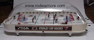 Hand-Painted  BRUINS-CANADIANS-RANGERS STIGA Bubble DOME Table HOCKEY Game NHL
