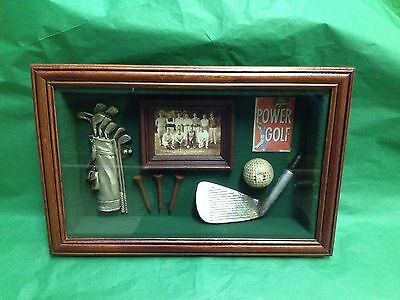 Golf Memorabilia Shadow box/ 3D Picture Frame - Gift Prize Trophy Award #83043