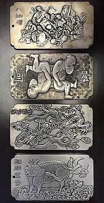 Antique Silver Bars/ Chinese Export Silver Plaques/Pendants