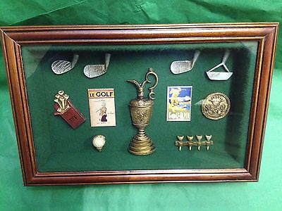 Golf Memorabilia Shadow box/ 3D Picture Frame - Gift Prize Trophy Award #83066
