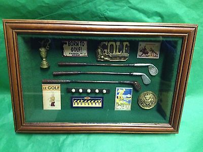 Golf Memorabilia Shadow box/ 3D Picture Frame - Gift Prize Trophy Award #83065