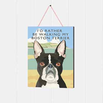 BostonTerrier Wooden Sign Gift