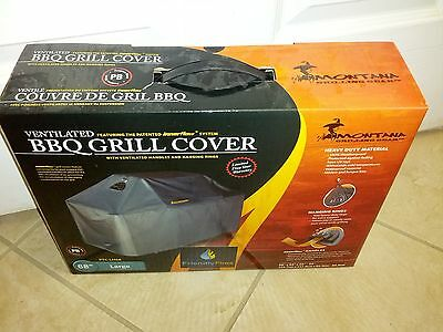 "Brand New in Box Universal Ventilated Black BBQ Grill Cover Large 68"" PTC-LH68"