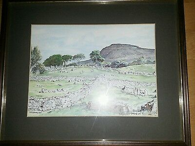 Framed 12x10 Print of Ingleborough in the Yorkshire Dales by P Brennison