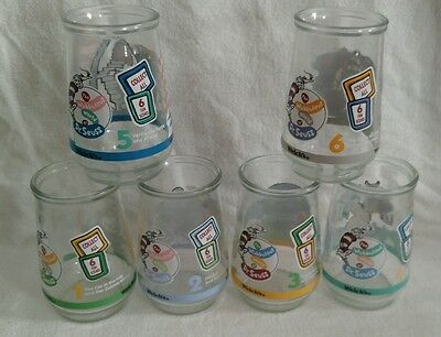 Vintage Welch's Dragon Tales Jelly Jars Glasses Complete Set of 6