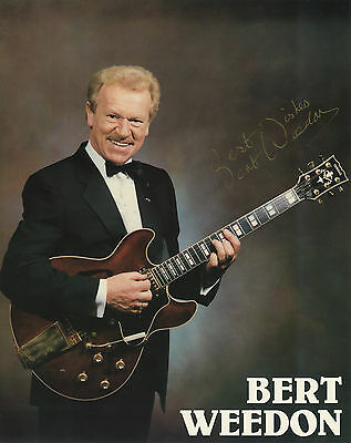Bert Weedon - ' Play In A Day ' - British Guitar Legend - Signed Colour Photo.