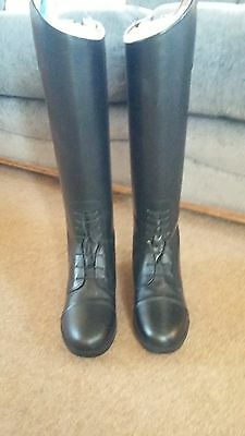 Rhinegold Leather Long Riding Boots