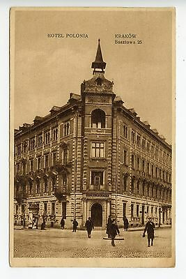 Poland Hotel Polonia Krakow picture postcard used in GB (L482)