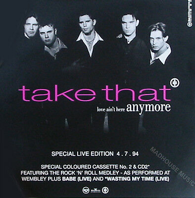 TAKE THAT POSTER Love Ain't Here Anymore UK Promo Only DISPLAY Card