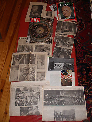 A Lot Of Newspaper Articles Clippings Life Magazine 1969  Pres. Eisenhower Ike