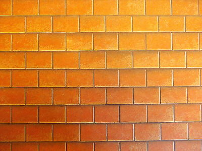 Dolls House 1/12 Scale Wall Paper 4 X Roof Tiles (Card Not Paper) 400Mm X 295Mm
