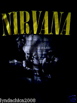 Vintage NIRVANA 90's Grunge Rock Shirt (Size Small)