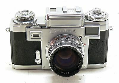 Zeiss Contax IIIa 3a colored dial camera body + 50mm f/1.5 Sonnar & case EXC++