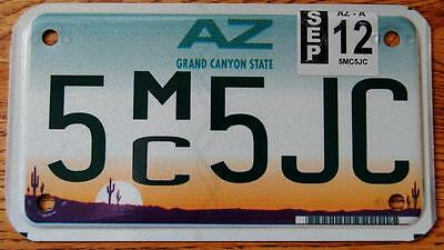 Motorcycle License Plate AZ Plate,1997 Plate Of The Year 2012 Tag Expired