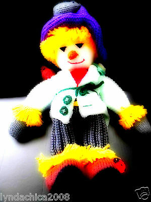 Handmade Crochet knit SCARECROW Plush Doll (18 INCHES)