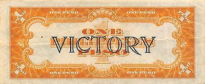 Philippines  1 Peso ND.1944 P 94  Victory Series WW II issue Circulated Banknote