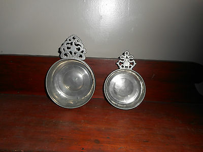 Another Pair of Antique American Pewter Porringers