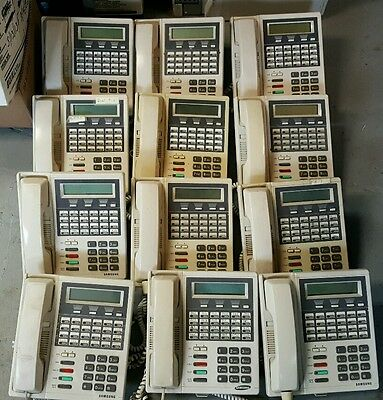 Lot of 12 Samsung DCS LCD 24B 24 Button Display Ivory Phone White Free Ship F