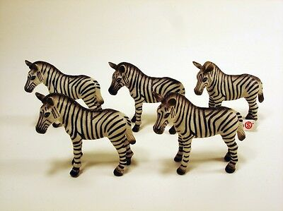 SCHLEICH 5 ZEBRA African animal figure LOT new & used 1999