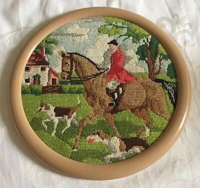 Tapestry Wall Hanging Finished Framed Hunting Scenery