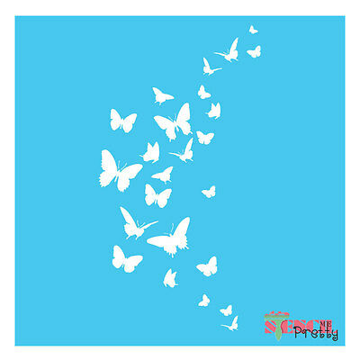 Butterfly stencil template - PAINT IT YOURSELF DIY wall art furniture airbrush |