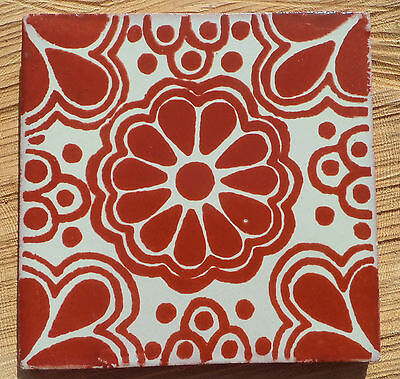 """10~Talavera Mexican 4"""" tile pottery hand made classic traditional TILES Mexico"""